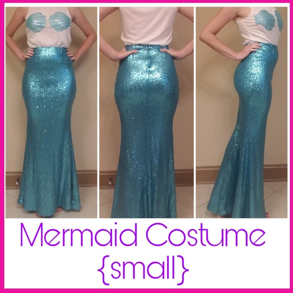 b6468ca48f7 NWT mermaid costume halloween maxi skirt